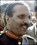 [ image: General Zia: Tried to gain readmittance]