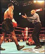 [ image: Referee Richard Steele ruled the punch was not deliberate]