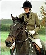[ image: Charles' girlfriend Camilla is a keen huntswoman]