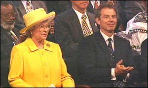 image: [ Britain's Queen with Prime Minister Tony Blair ]