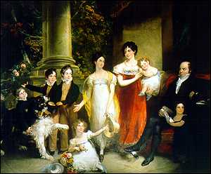image: [ Nathan Mayer Rothschild with his family. painted by W.A. Hobday in 1821 ]