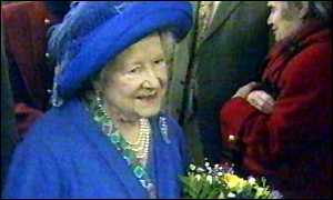 image: [ The Queen Mother broke her hip in a fall at Sandringham ]