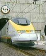 [ image: Hi-tech train, low-tech line]