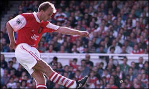 image: [ Dennis Bergkamp began the seven-minute blitz ]