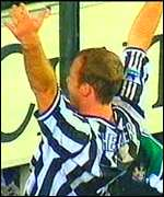 [ image: Shearer scored all three Newcastle goals in the two games]