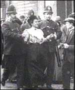 [ image: Suffragettes were often beaten by police]