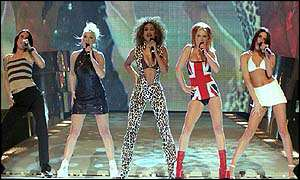image: [ The Spice Girls, performing at last year's ceremony. This year they have just one nomination ]
