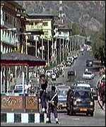 [ image: Rush-hour in the capital, Thimphu]