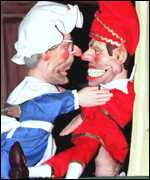 [ image: Punch and Judy immortalised as John Major and Tony Blair]