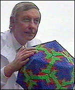 [ image: Ron Eccles said zinc can block the virus]