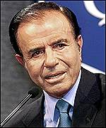 [ image: Menem: Accused Spain of interference]