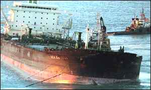 BBC News   WALES   Port fights Sea Empress fine