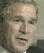 [ image: Bush was still amused after the first question]