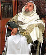[ image: Sheikh Yassin distanced Hamas from the bombing]