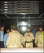 [ image: The military took control of Karachi airport while the plane was aloft]