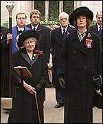 [ image: The Queen Mother led the ceremony at the Field of Remembrance]