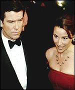 [ image: Brosnan with new love Shaye-Smith]