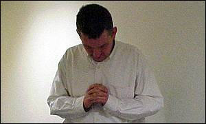 A religious person prays