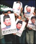 [ image: Calls for reform spread from nearby Indonesia to Malaysia]