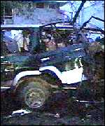 taleban car after bomb attack