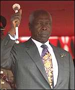 [ image: 'A humiliating blow' for President Moi]