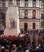 [ image: A remembrance service will be held on Sunday at the Cenotaph]