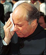 [ image: Mr Sharif could face the death sentence]