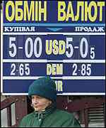 [ image: The hryvnia gained compared to its pre-election value]