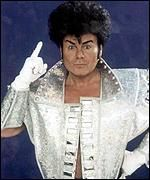 [ image: Glitter became known for his trademark costumes]
