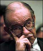 [ image: Fed chairman Alan Greenspan: tough on inflation]