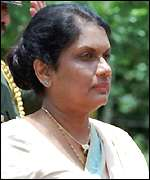 [ image: President Kumaratunga hoped to push through a devolution package]