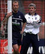[ image: England captain Alan Shearer will be hoping to hit the back of the net]