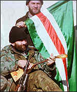 [ image: Moscow considers Chechen fighters to be