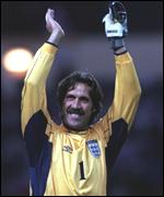 [ image: David Seaman celebrates after denying the Scots again]