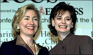 Cherie Booth and Hillary Clinton