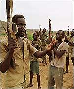 SPLA fighters - sudan