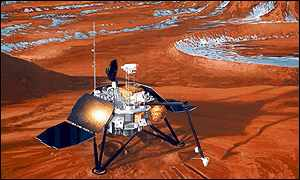Mars Polar Lander's first action will be to look around