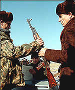 Chechen volunteers