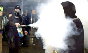 Police use CS spray