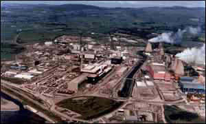 image: [ BNFL's nuclear reprocessing site at Sellafield in Cumbria ]
