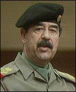 [ image: Saddam Hussein: no unrestricted access to sites]