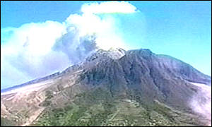 image: [ The eruption left most of the island uninhabitable ]