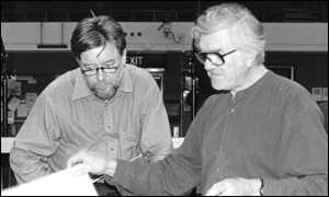 image: [ Andrew Davis, Chief Conductor of the BBC Symphony Orchestra, with composer Anthony Payne ]