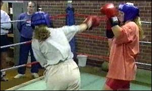 image: [ Boxing is becoming more popular with British girls but the BBBC fears the death of a woman fighter ]