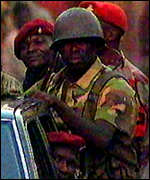 [ image: Troops of the military government in Freetown]