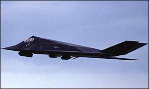 image: [ The F-117 led the early raids on Baghdad in 1991. ]