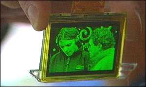 image: [ The screen of the future at present only works in black and green ]