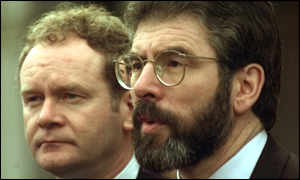 image: [ Sinn Fein's Gerry Adams (right) and Martin McGuinness ]