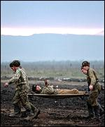 wounded Russian