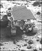 The rover used by Sojourner